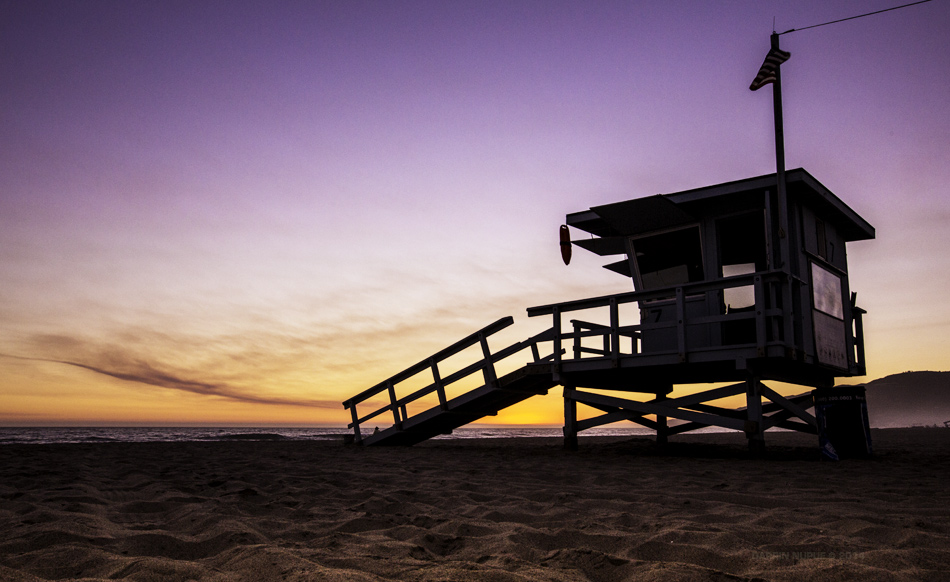 Lifeguard Tower Sunset