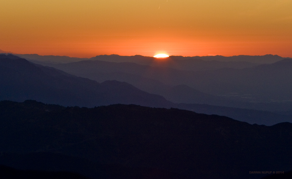 Santa Barbara Mountain Sunrise