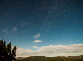 SHAVER LAKE AT NIGHT - VERTICAL PANORAMIC PRINT